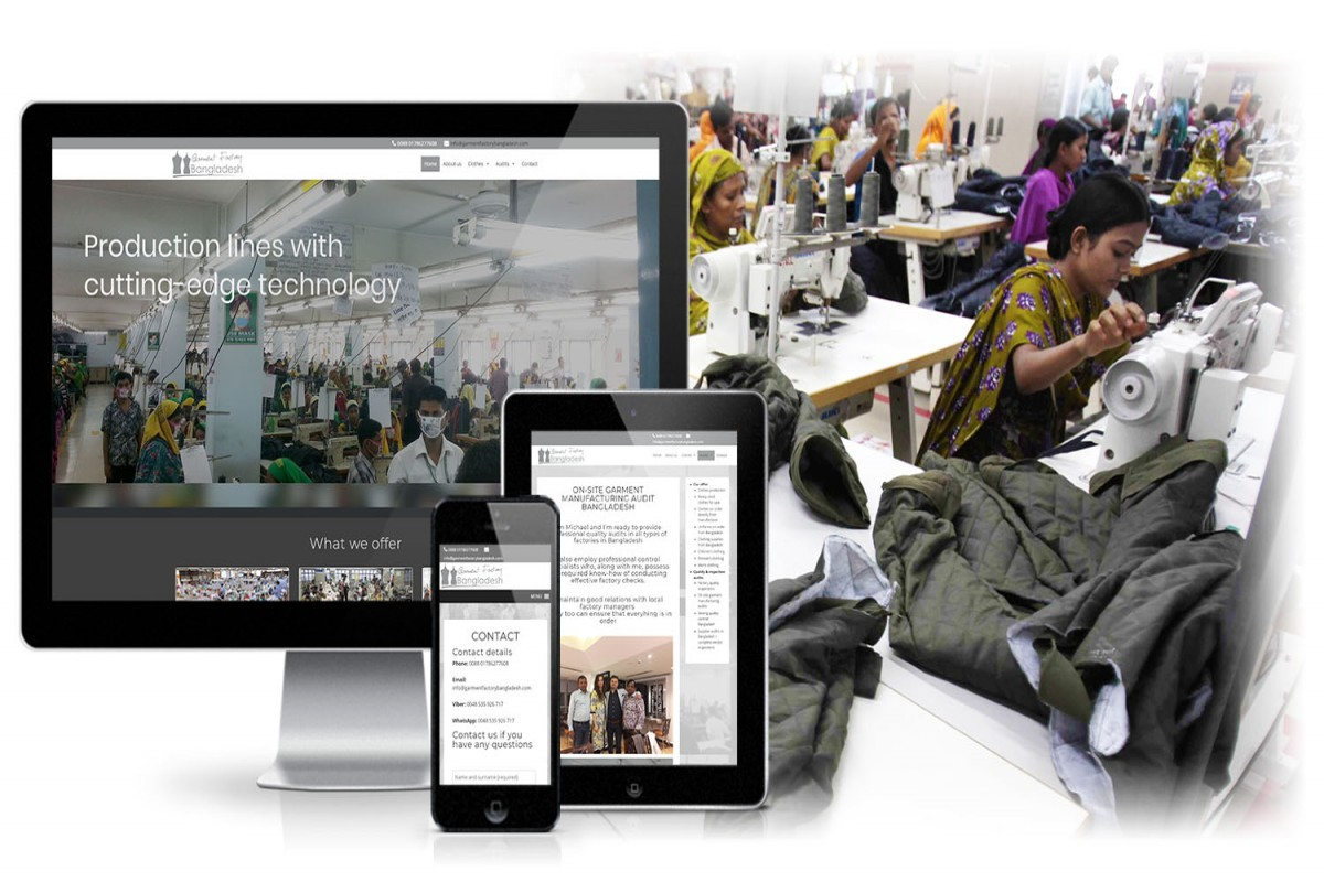 Website for Garment Factory Bangladesh
